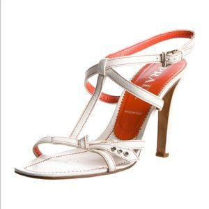 ❤️ PRADA gorgeous bow tie, t-strap stiletto heels.